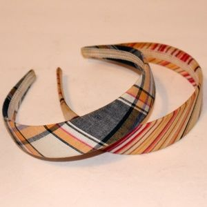Plaid Stripe Head Band Headband